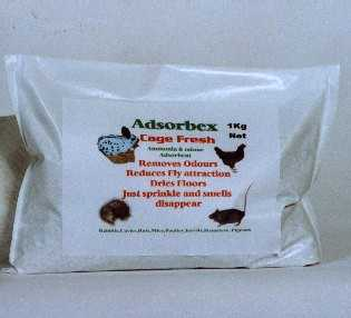 Adsorbex Cage Fresh 900g Refill for use in ferret cages and rabbit hutches