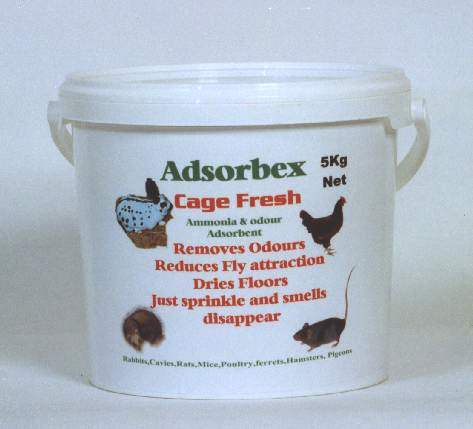 Adsorbex Cage Fresh 5kg Drum for use with ferret breeders or rabbit breeders